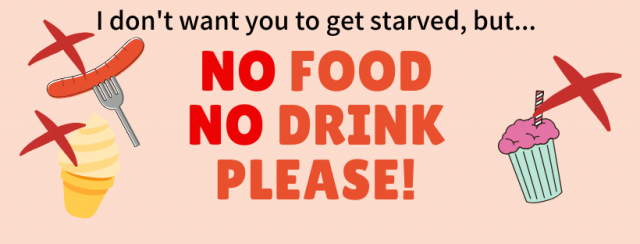 no food no drink